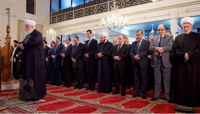 Presiden Suriah Bashar Assad Hadiri Peringatan Maulid Nabi Muhammad di Damaskus