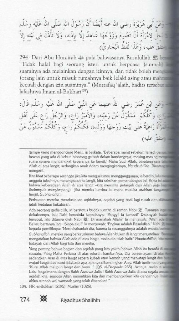 Kitab Riyadush Sholihin Disusupi Pemahaman Wahabi, Ini Buktinya