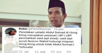 Ini Akun Yang Fitnah KH. Said Aqil Siradj, Setelah Ust Abd Somad Ditolak Di Hongkong