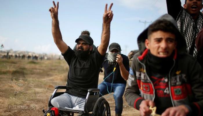 Pria Pemberani Palestina Berkursi Roda Ini Tewas Ditembak Pasukan Israil