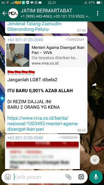 Kini Menteri Agama Sudah Sehat Kembali