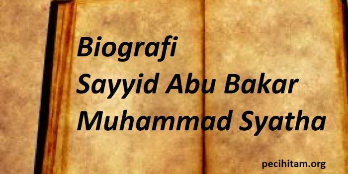 sayyid abu bakar syatha
