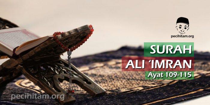 Ali Imran ayat 109-115