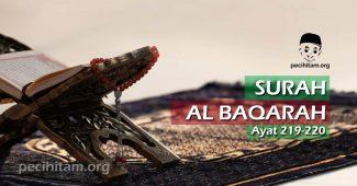 Surah Al-Baqarah ayat 219-220