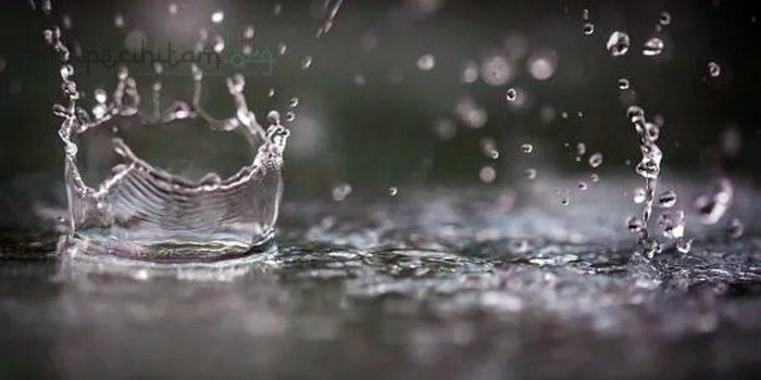 benda najis terbasuh air hujan