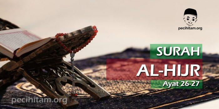 Surah Al-Hijr Ayat 26-27