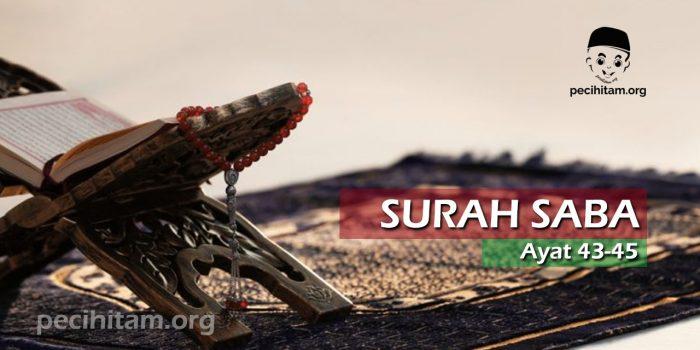 Surah Saba Ayat 43-45