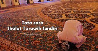 shalat tarawih sendiri